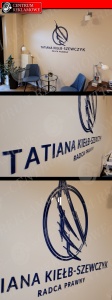 LOGO przestrzenne, logo pleksi, logo styrodur, logo 3d