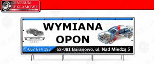 banery siatki powlekane laminowane mocne Przeźmierowo Poznań