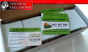 karty plastikowe, karty rabatowe, wizytówki Przeźmierowo Centrum Reklamowe