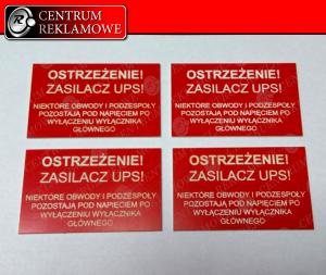 kolorowe tabliczki znamionowe z grawerem, GRAWER, naklejki z grawerem, szyldy, Grawer Przeźmierowo Rokietnica Poznań cięcie laserem