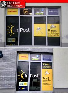 naklejki, oklejenie sklepów, naklejka na szybę Przeźmierowo Centrum Reklamowe