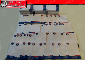 notesy A6 firmowe notesy z logo Tarnowo Podgórne karteczki z nadrukiem Przeźmierowo
