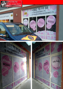 reklama na oknach Poznań