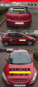 reklama na samochodzie Tarnowo Podgórne Kiekrz Poznań oklejanie aut