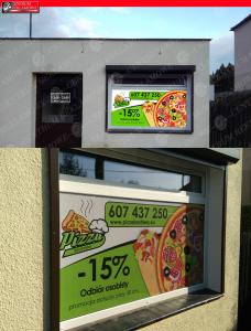 reklama na szybie Poznań naklejki