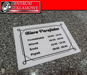 tabliczka informacyjna grawer Przeźmierowo Tabliczki metalowe Reklama cięcie laserem
