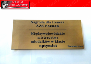 tabliczka z grawerem Pasaż Przeźmierowo Lusowo Zakrzewo Rokietnica Przeźmierowo laser grawerowanie szkoła
