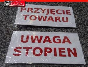 tabliczki ostrzegawcze Przeźmierowo