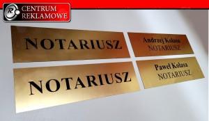 tabliczkim informacyjne NOTARIUSZ