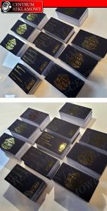wizytówki GOLD, wizytówki złocone, wizytówki srebrzone CENTRUM REKLAMOWE