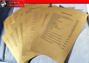 złoty wydruk, złote menu Poznań przeźmierowo